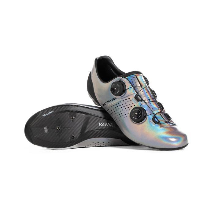 fietsschoenen CycloSport Van Rysel glinsterend grijs