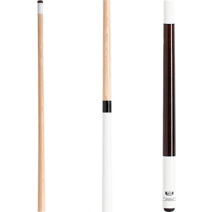 兩節式美式撞球桿Club 500,1/2段接合 - 白色