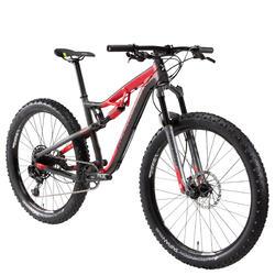 XC MTB 100 S 27.5 PLUS 12s zwart en rood