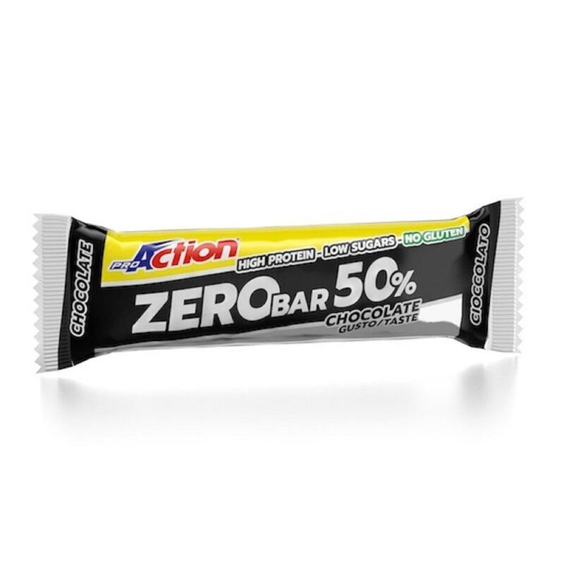 Barretta Proteica Zero Bar 50% Cacao GLUTEN FREE Proaction