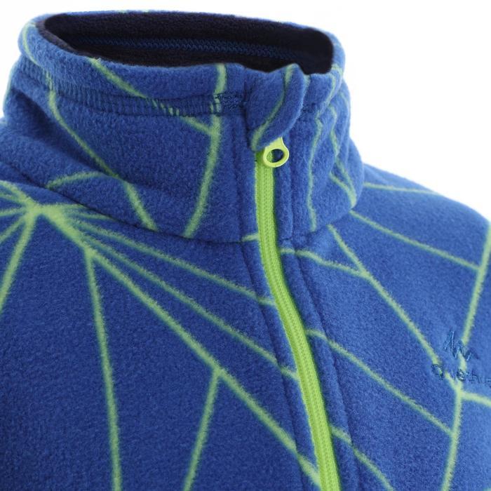 兒童款健行刷毛立領上衣MH120-藍色