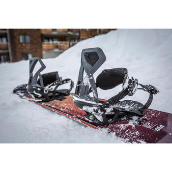 Men And Women's Snowboard Bindings Illusion 700 - Black and Grey