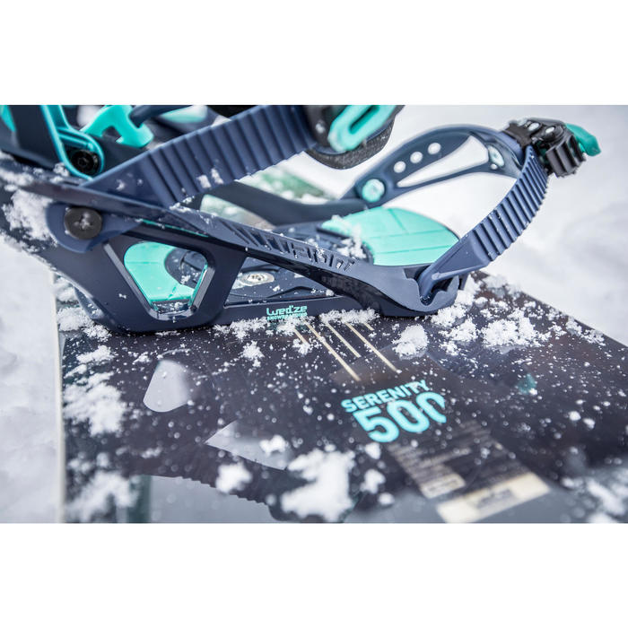 Pack de Snowboard, Wed'ze Serenity 500, All Mountain, Mujer