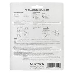 Fahrradbeleuchtung Set Front-/Rücklicht Aurora LED 30 LUX