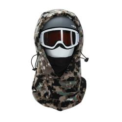 SKI ADULT HOOD WITH MOUNTED HELMET CAMO