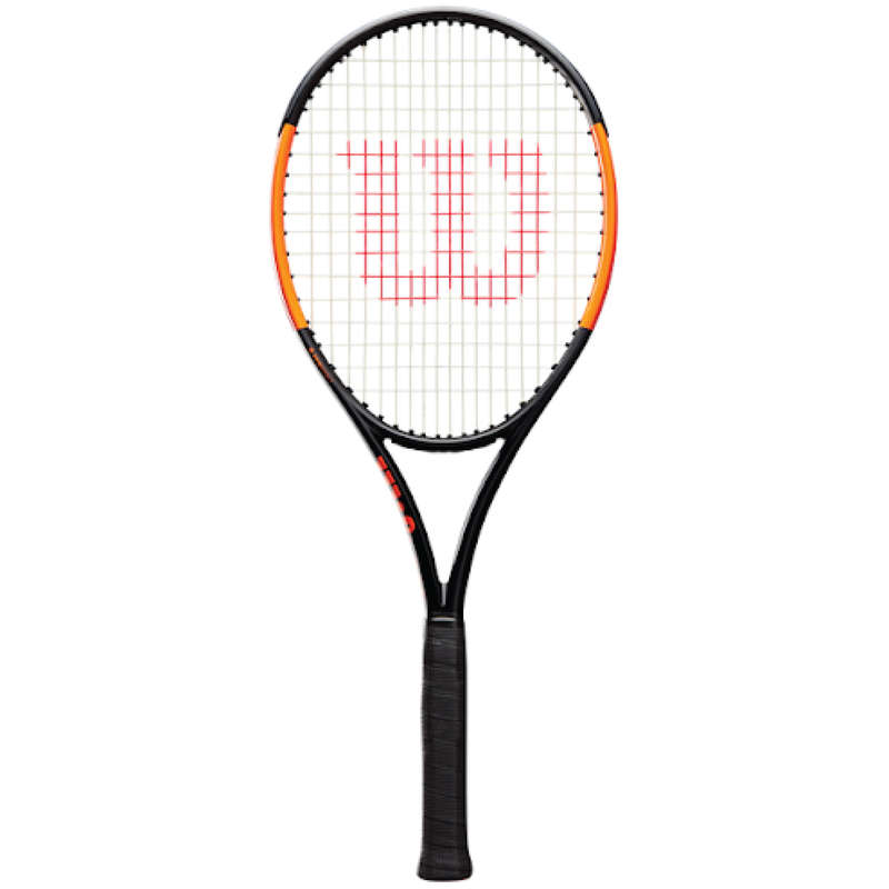 ADULT ADVANCED RACKETS Tennis - Burn 100 LS - Black/Orange WILSON - Tennis