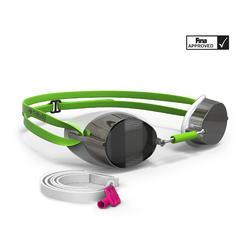 Swimming Goggles Swedish Mirror Lens - Green