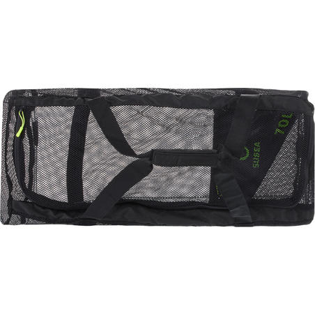 Mesh 70L scuba diving bag - black