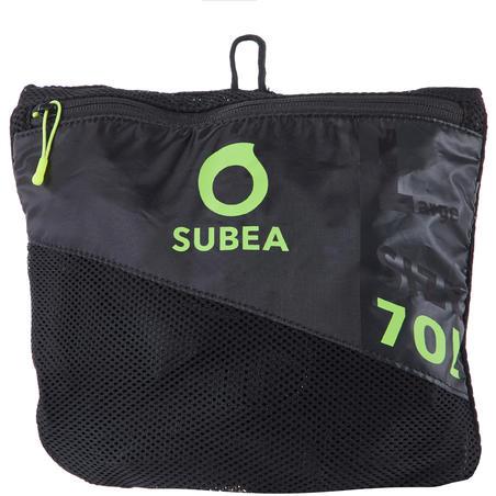 Mesh 70L scuba diving bag - black