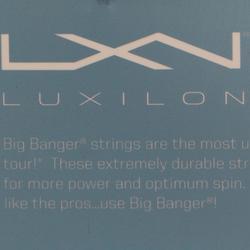 CORDAGE DE TENNIS MONOFILAMENT BIG BANGER ALU POWER 1,25mm GRIS