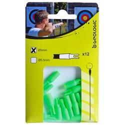 12 Nockpunkte 5 und 5,5mm Bogensport grün