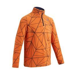 兒童款健行刷毛立領上衣MH120-橘色