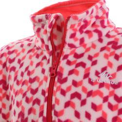 Children's hiking fleece MH120 pink