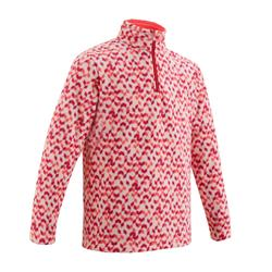 Children's hiking fleece MH120 pink