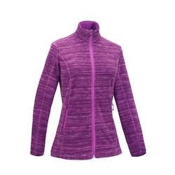 女款登山健行刷毛外套MH120-紫色