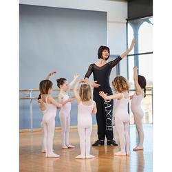 Ballettschuhe Leinen lachsfarben
