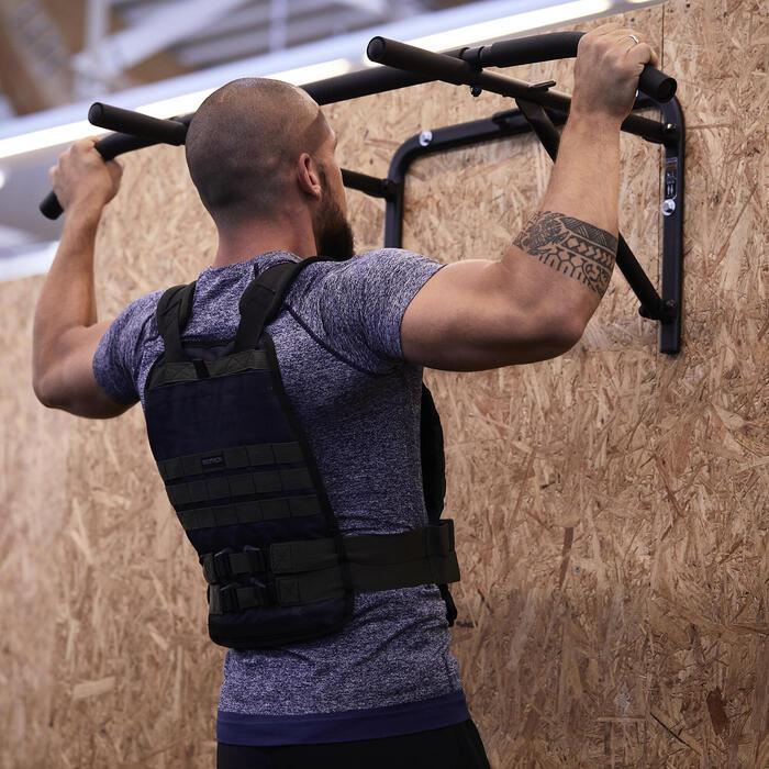 Chaleco Lastrado Ajustable Cross Training Musculación Domyos 10Kg Negro/Verde