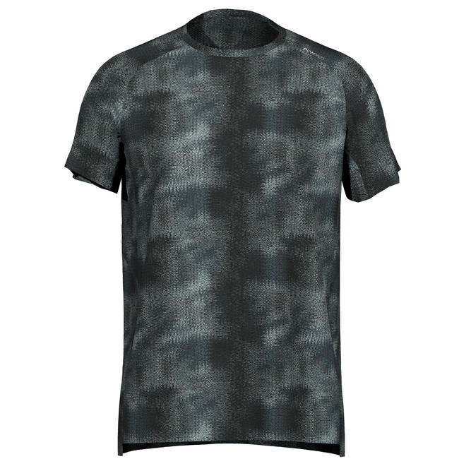 Men's Regular-Fit Rapid Dry Cardio Gym T-Shirt - Mottled Grey