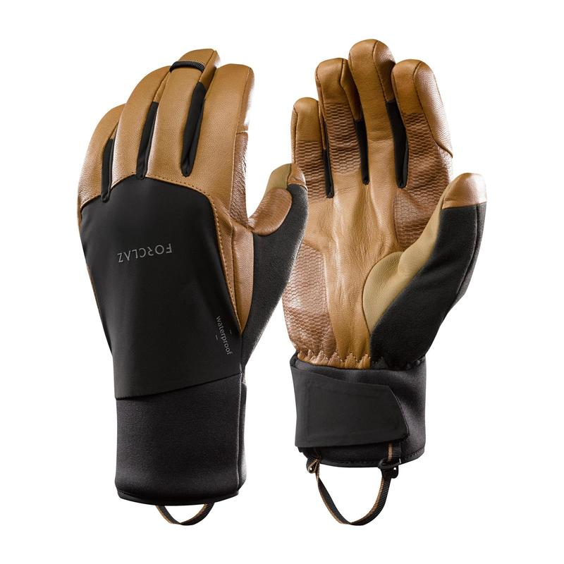 Gants en cuir de trekking montagne -TREK 900 imperméables marron - adulte