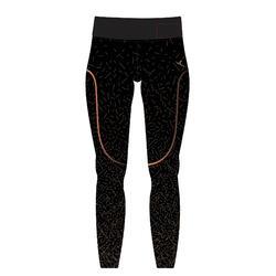 560 Women's Pilates & Gentle Gym 7/8 Leggings - Black/Metallic Copper Print