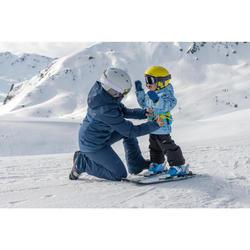 VESTE DE SKI ENFANT SKI-P JKT 100 WARM REVERSE BLEUE