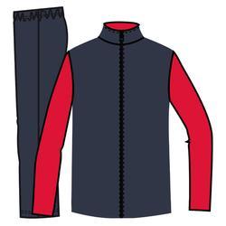 Trainingsanzug GYM'Y warm, Synthetik atmungsaktiv S500 GYM Kinder rot