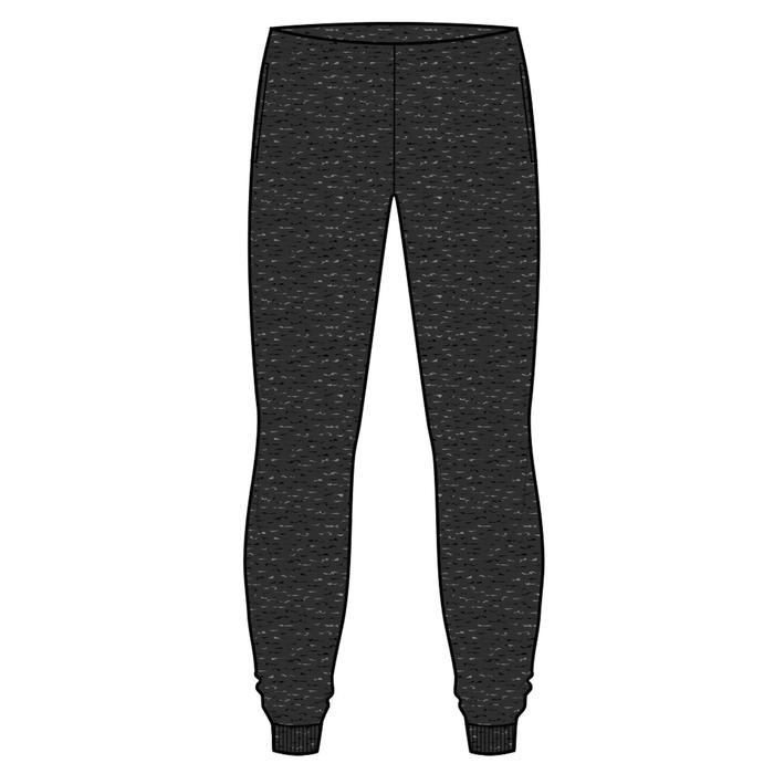 100 Boys' Warm Regular-Fit Gym Bottoms - Dark Mottled Grey