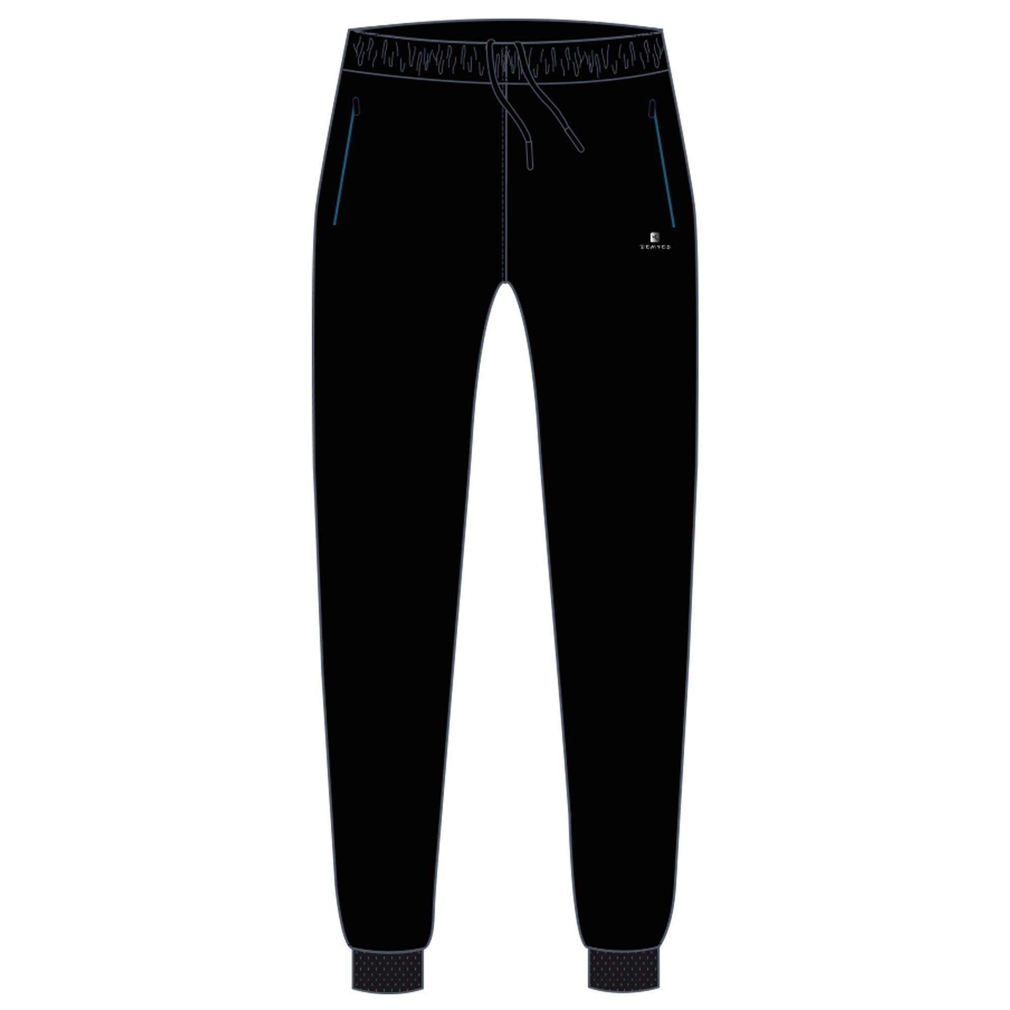 0b0f9a73f2d8c Pantalon chaud, synthétique respirant S500 garçon GYM ENFANT noir   Domyos  by Decathlon