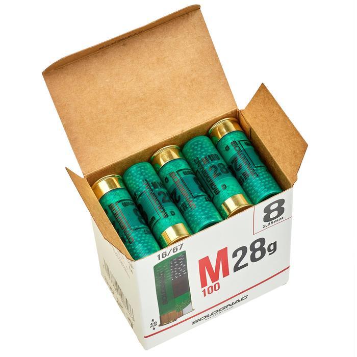 CARTUCHO M100 CALIBRE 16/67 28 g PERDIGÓN N.° 8 X25