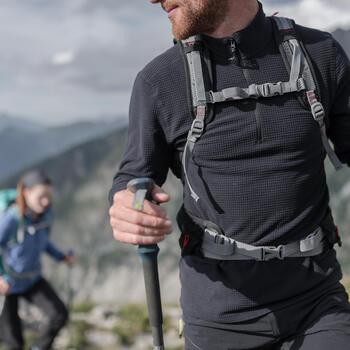 Fleecepullover MH500 Bergwandern Herren türkis