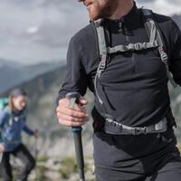 Chamarra polar de senderismo montaña hombre MH520 Negro