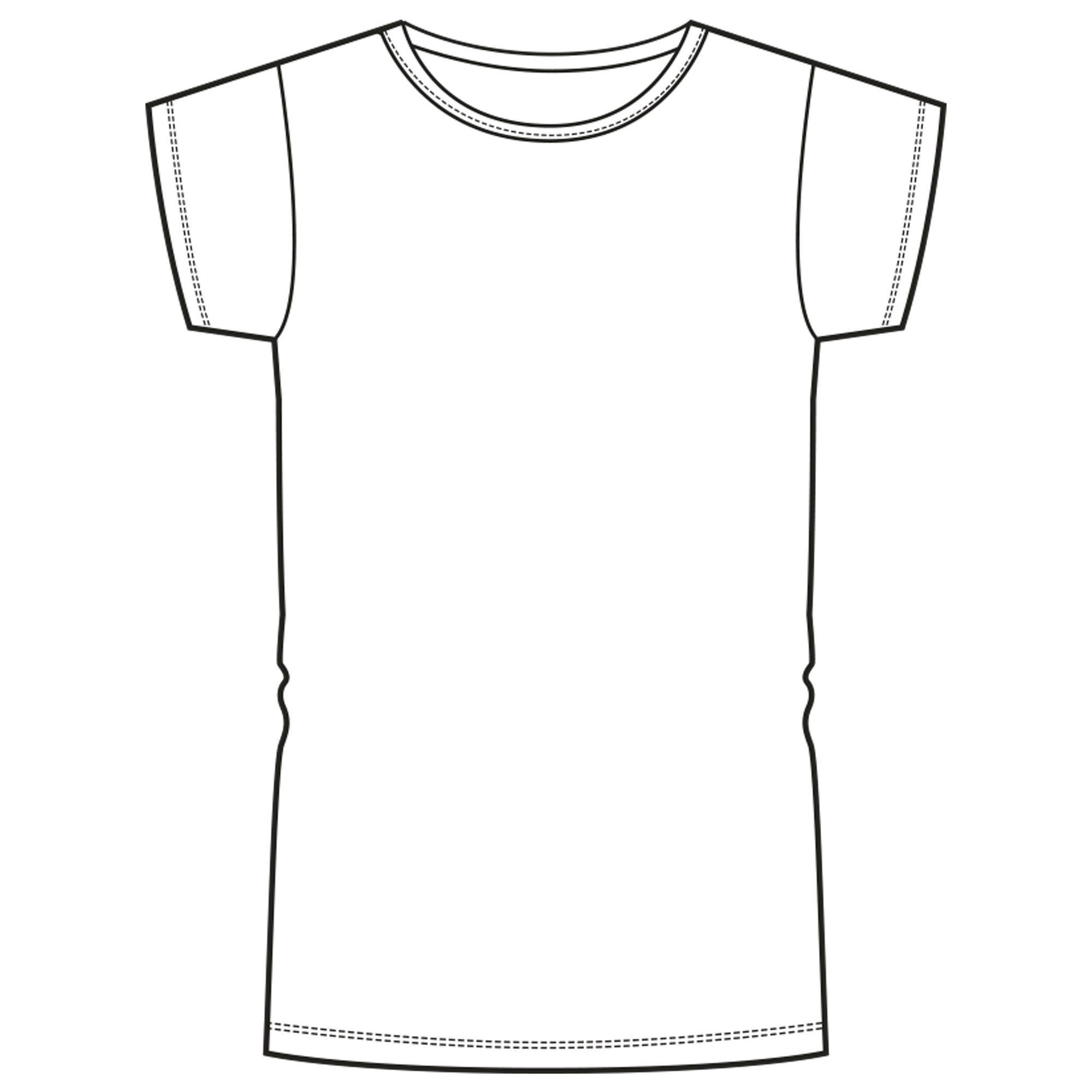 47598c85db977 decathlon tee shirt blanc enfant T-Shirt manches courtes 100 fille GYM ...