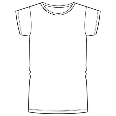 bb08dfe09be T-shirt korte mouwen 100 meisjes GYM KINDEREN wit