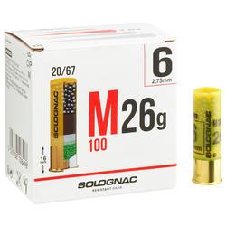 CARTUCHO M100 CALIBRE 20/67 26 g PERDIGÓN N.° 6 x25