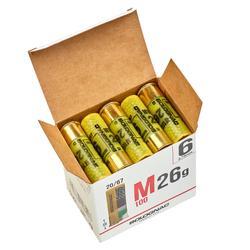 CARTOUCHE M100 CALIBRE 20/67 26G PLOMB N°6 X25