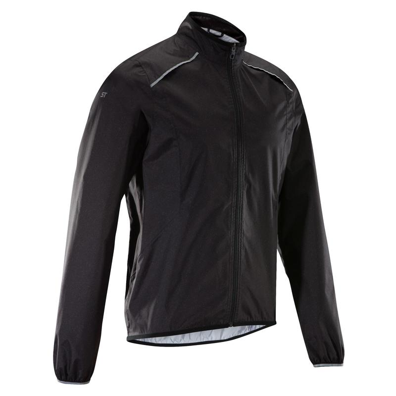 Mountain Bike Rain Jacket ST 500 - Black