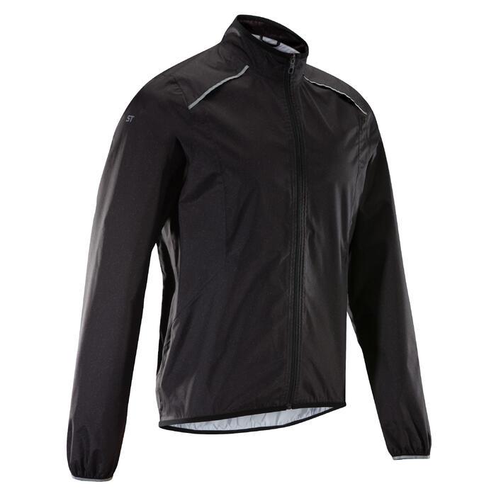 Fahrrad Regenjacke MTB ST 500 Herren schwarz