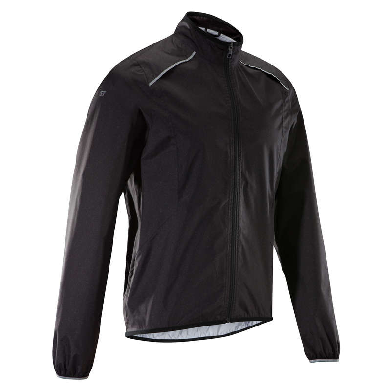 MEN WET WEATHER INT ADV ST MTB APPAREL Cycling - ST500 Waterproof Mountain Bike Jacket - Black ROCKRIDER - Cycling