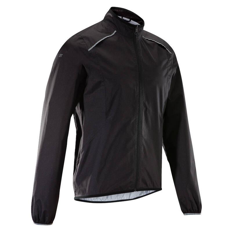 PÁNSKÉ OBLEČENÍ NA MTB DO DEŠTIVÉHO POČASÍ Cyklistika - CYKLISTICKÁ PLÁŠTĚNKA ST500 ROCKRIDER - Cyklistické oblečení