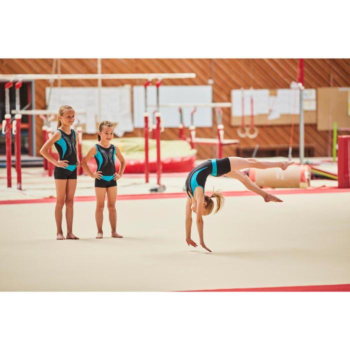 Gymnastikhose kurz Bund Pailletten türkis