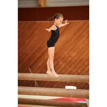 Gymnastikhose kurz Bund Pailletten rot