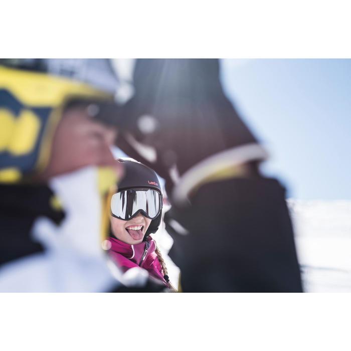 VESTE DE SKI ENFANT SKI-P JKT 900 NOIRE ET BLANCHE