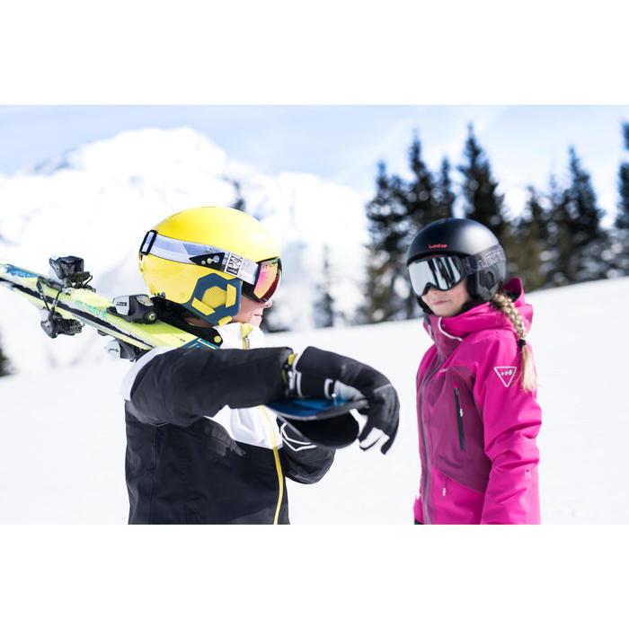 Ski-jas voor kinderen SKI-P JKT 900 zwart en wit