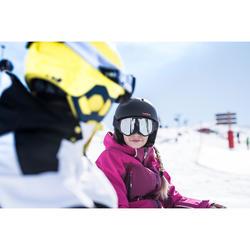 Skijacke Piste 900 Kinder schwarz/weiß