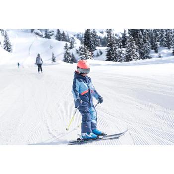 兒童滑雪衣PNF 500 - 天藍色與珊瑚紅