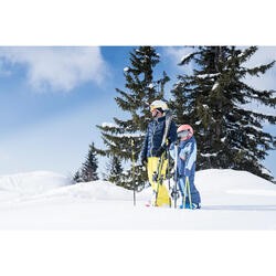 男款保暖滑雪羽絨外套Ski-P 500 - 藍色