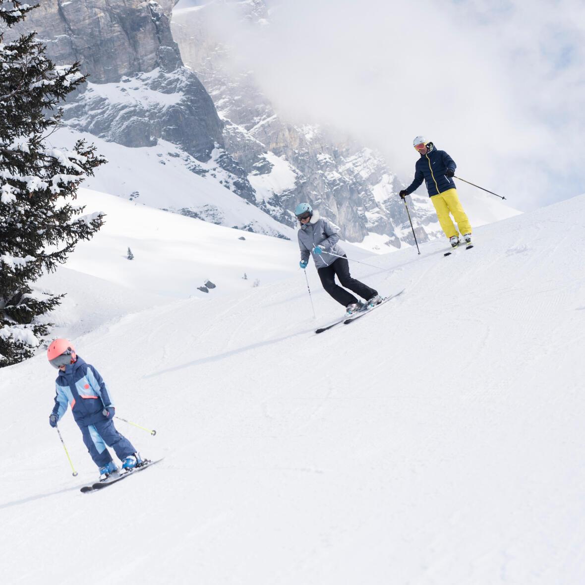 ski de piste famille