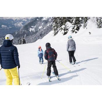 Skijacke Piste 100 warm wendbar Kinder schwarz