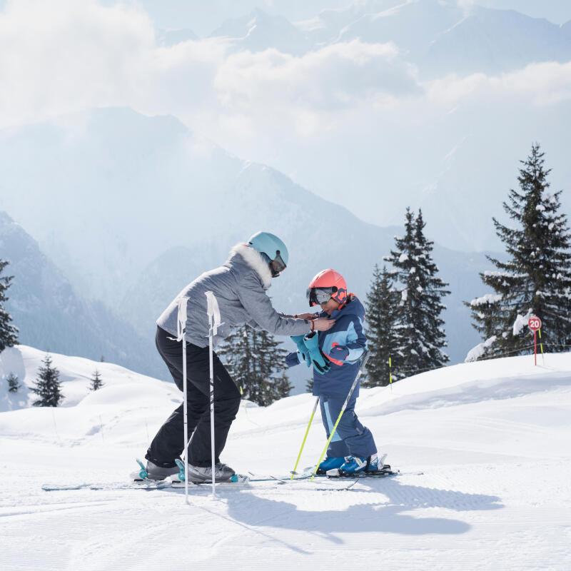 skien met zijn daughter