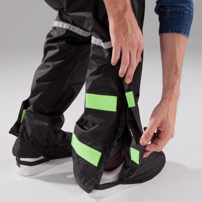 500 City Cycling Rain Overtrousers - Black
